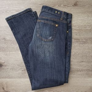 CaAbi #513 Brando tall dark wash straight jeans